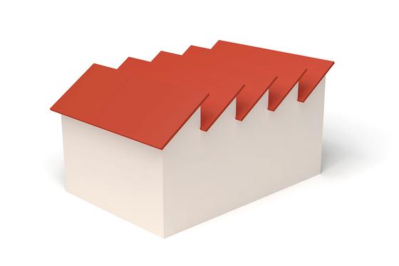 Dachform Sheddach