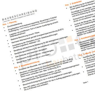 Leistungs- und Baubeschreibung 12/2017